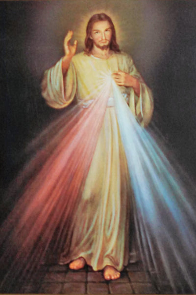 DIVINE MERCY - Mass Card for the Deceased - Single Card