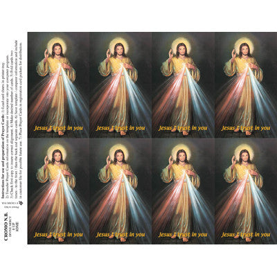 Divine Mercy Funeral Cards - 100 Pack