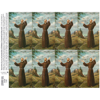 St. Francis Funeral Cards - 100 Pack