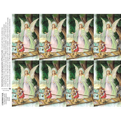 Guardian Angel Funeral Cards - 100 Pack