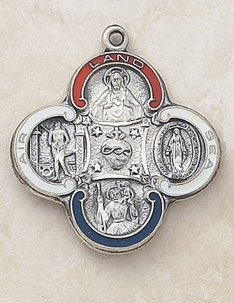 Sterling Silver Military 4 - Way Medal