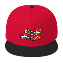 Cartoon Twisty™ Lip Snapback Hat