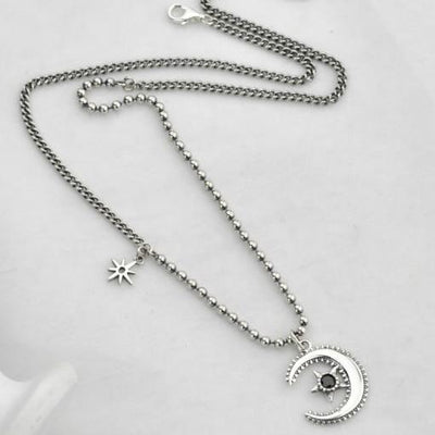 Necklaces - Silver Moon Necklace
