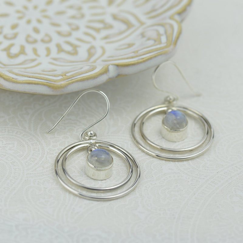Earrings - Moonstone Drop Earrings