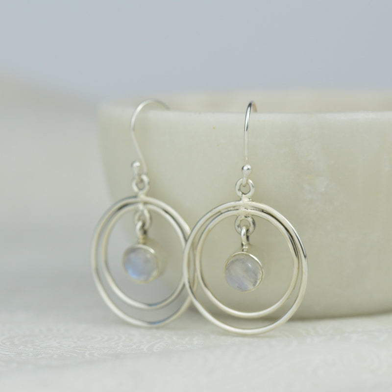Earrings - Rainbow Moonstone Earrings