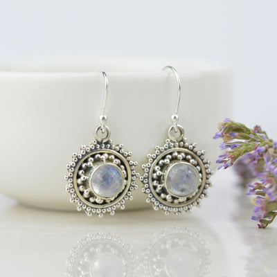 Earrings - Bohemian Moonstone Earrings