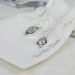 Teardrop Rainbow Moonstone Earrings