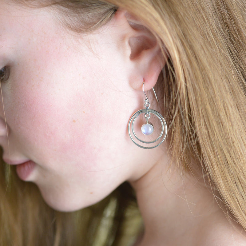Earrings - Lunar Moonstone Earrings