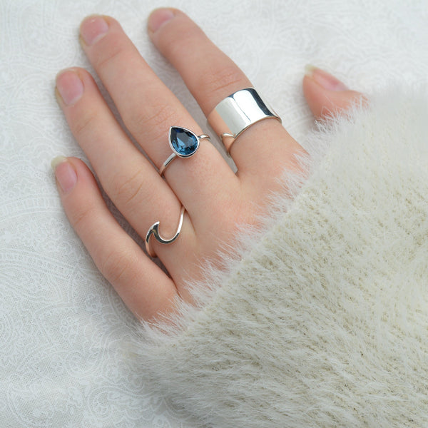 Rings - Blue Crystal Ring