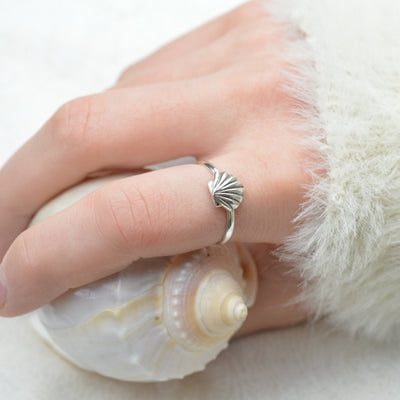 Rings - Silver Shell Ring Australia