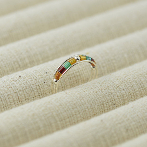 Multi Colour Beaded Toe Ring
