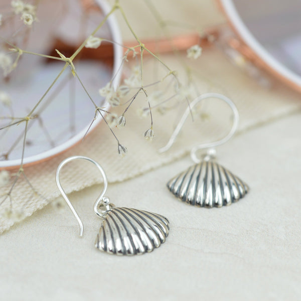 Earrings - Silver Shell Earrings