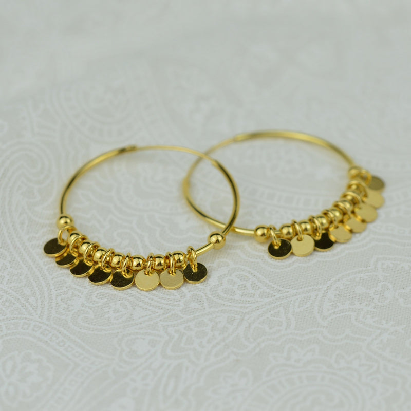 Earrings - Gold Gypsy Hoop Earrings