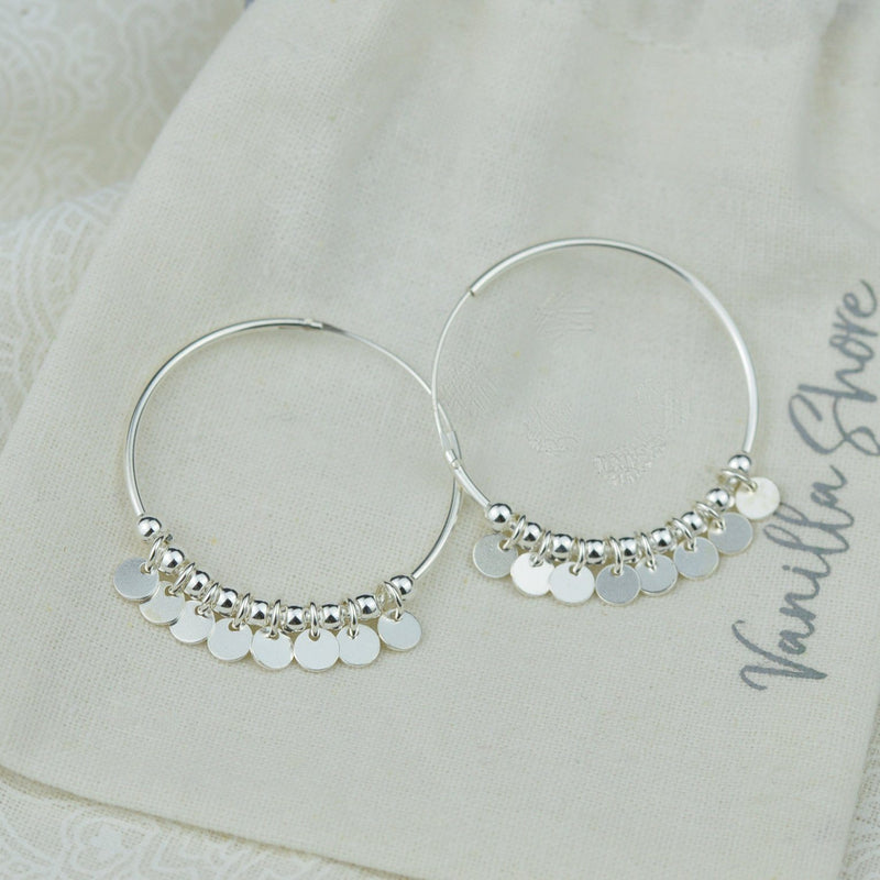 Earrings - Silver Hoop Earrings