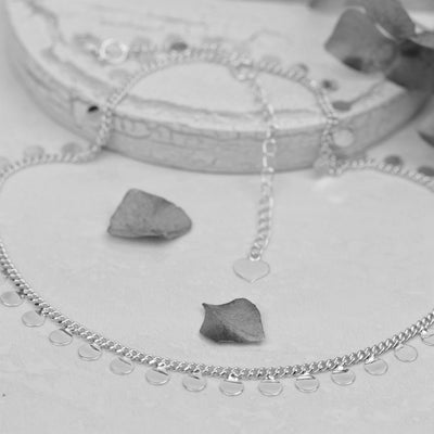 Necklaces - Sterling Silver Mini Disc Choker Necklace