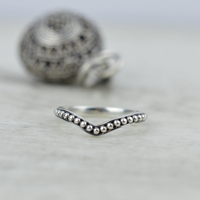 Rings - Sterling Silver Chevron Ring