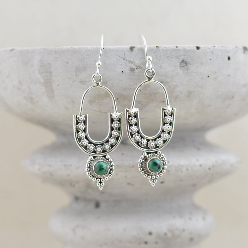 Earrings - Malachite earrings
