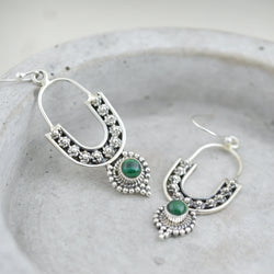 Earrings - Green Malachite Earrings