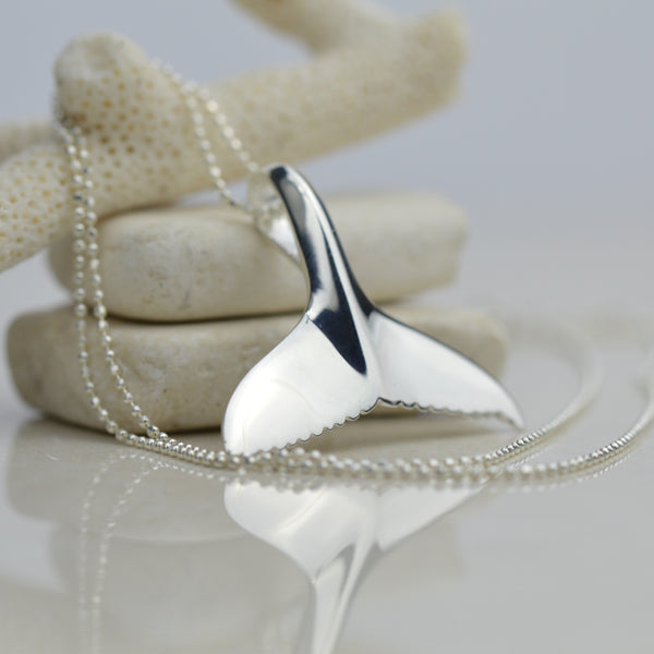 Necklaces - Sterling Silver Whale Tail Necklace