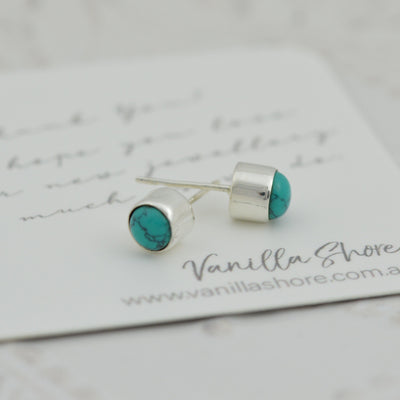 Earrings - Turquoise Stud Earrings