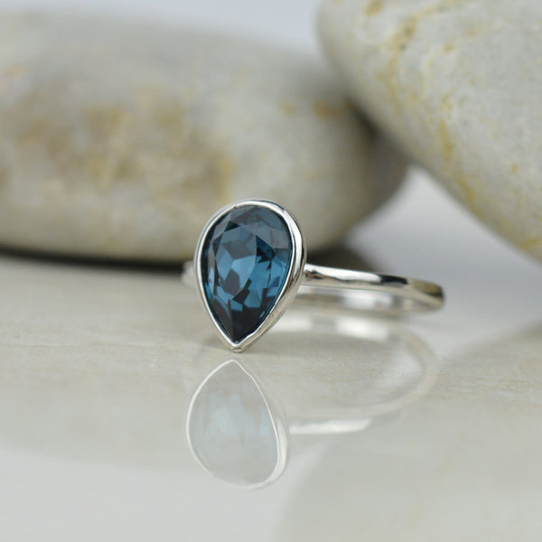 Rings - Montana Blue Swarovski Crystal Ring