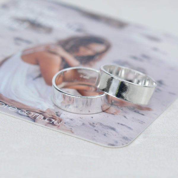 Toe Ring -  Wide Band Silver Toe Ring