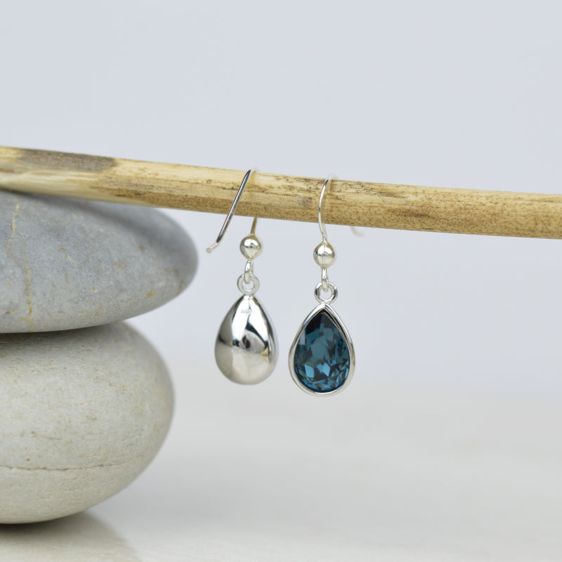Montane Blue Crystal Earrings