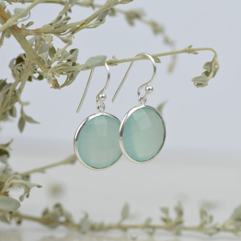 Sea Green Chalcedony Earrings
