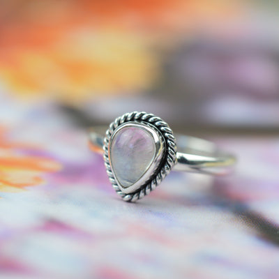 Rings - Teardrop Moonstone Ring