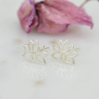 Earrings - Lotus Flower Studs