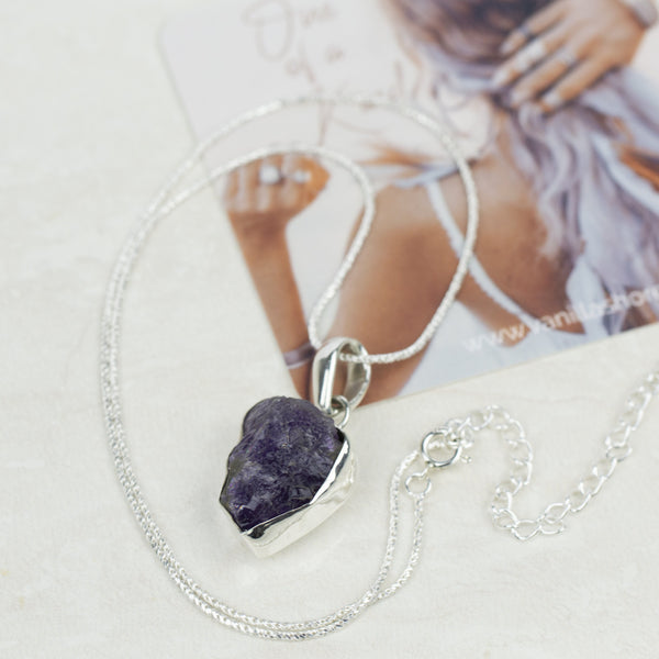 NECKLACES -Raw Amethyst Stone Necklace