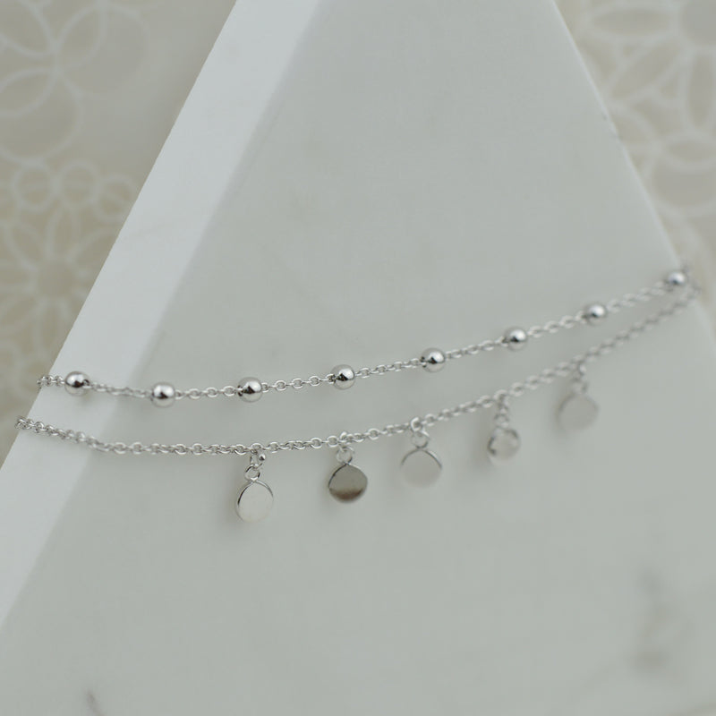 Double Strand Sterling Silver Gypsy Anklet