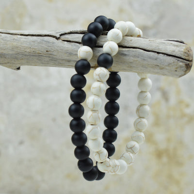Bracelets - Yin and Yang Beaded Bracelets