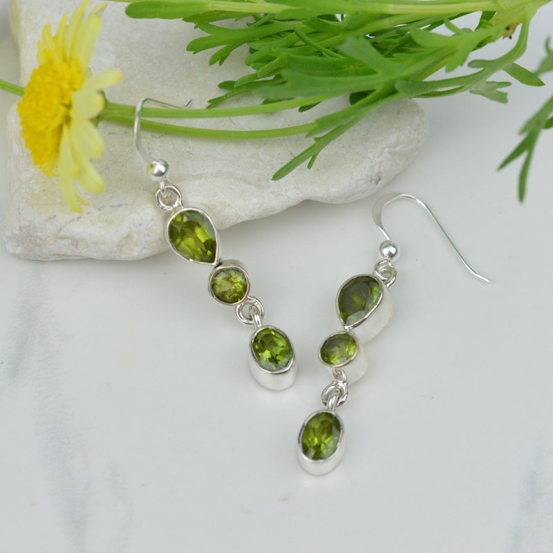 A Trio Of Peridot Earrings