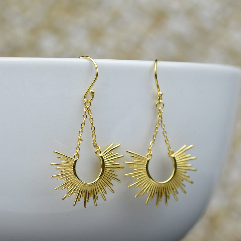 Earrings - Gold Sun-kissed Earrings