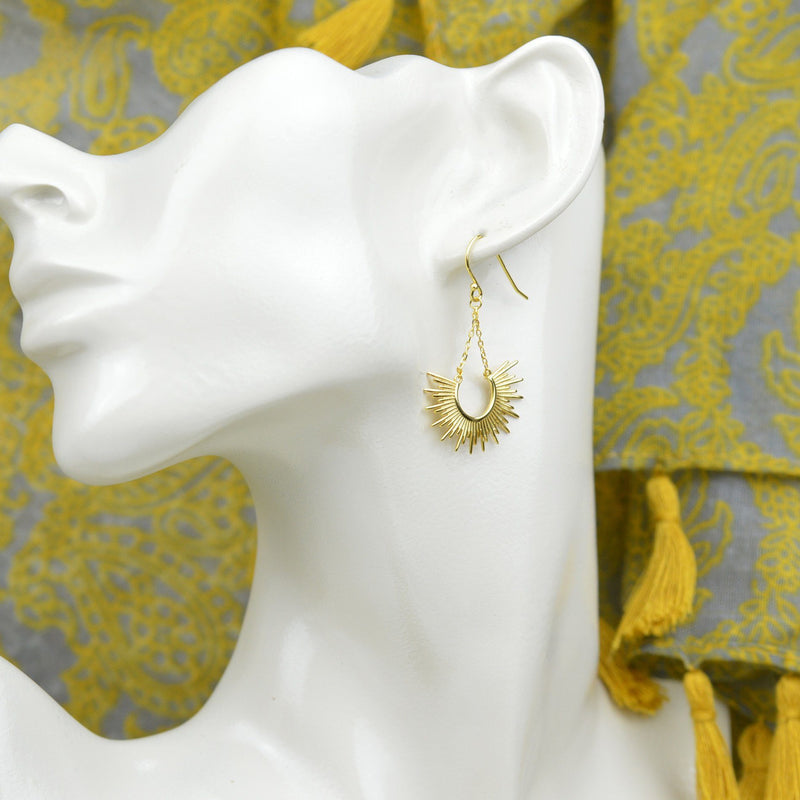 Earrings - Gold Sun Earrings