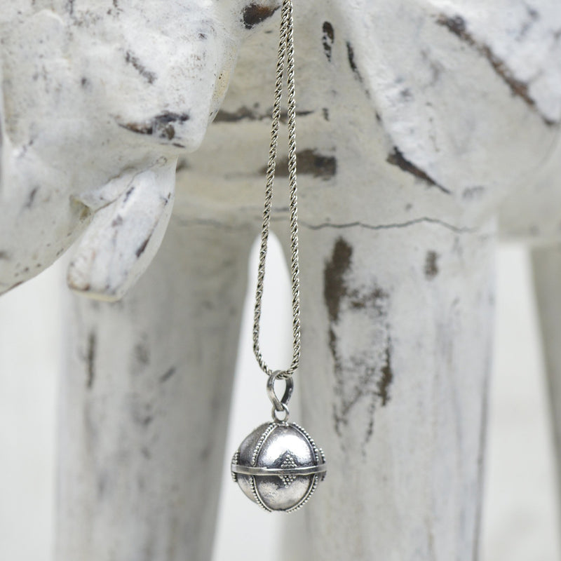 Necklace - Sterling Silver Ball Necklace