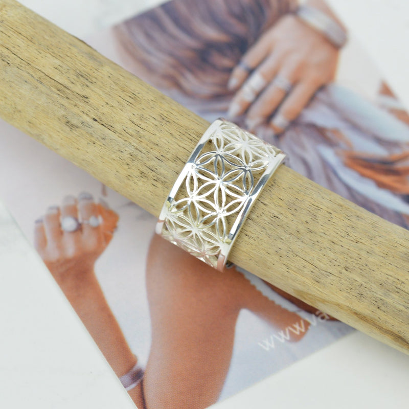 Rings - Adjustable Flower Of Life Ring