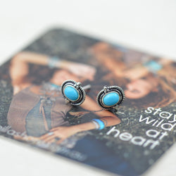 Earrings - Turquoise Bohemian Studs