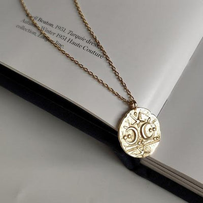 Necklaces - Gold Moon Necklace