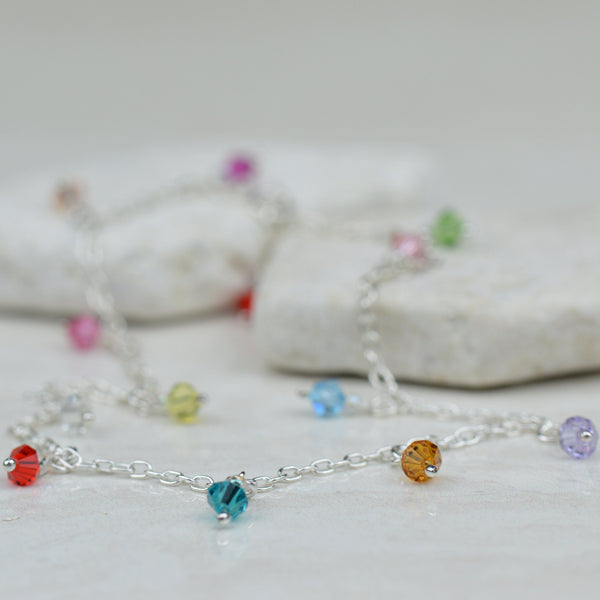 Anklets - Crystal Glass Bead Anklet