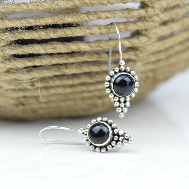 Earrings - Bali Black Onyx Earrings