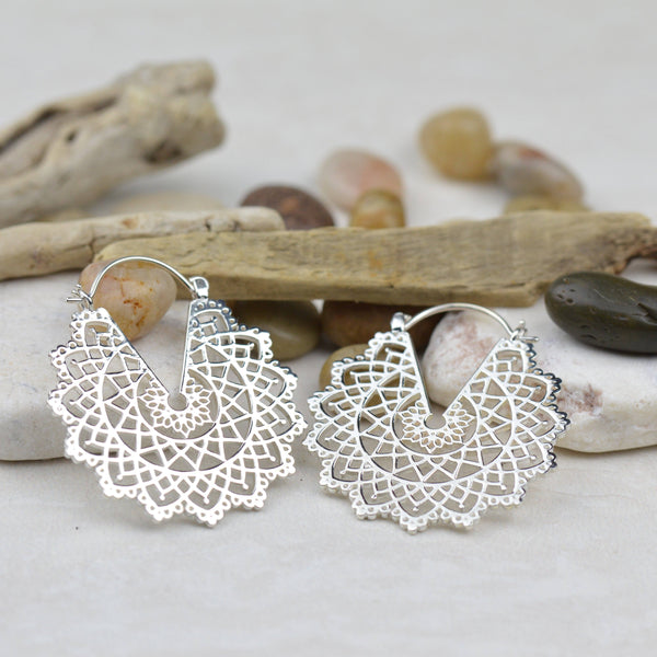 Earrings - Gypsy Lace Sterling Silver Earrings