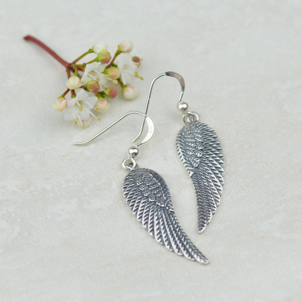 Earrings - Sterling Silver Angel Wing Earrings