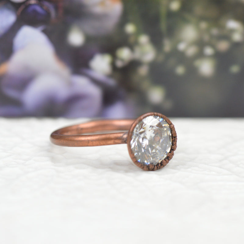 Rings - Cubic Zirconia And Copper Ring