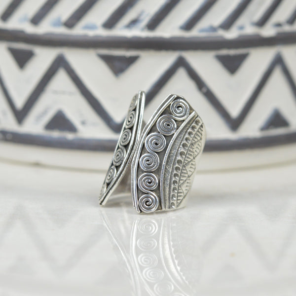 Rings - Tribal Statement Ring In Sterling Silver