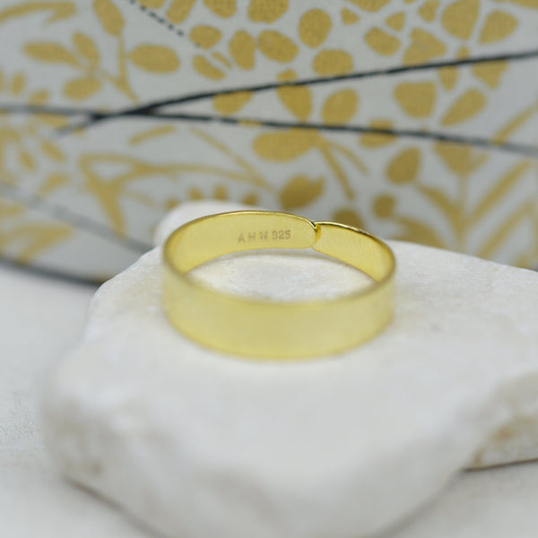Toe Rings - Minimalist Gold Band Toe Ring