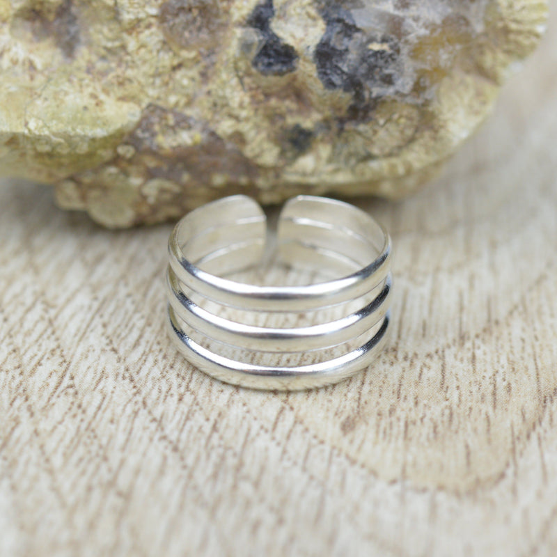 Toe Rings - Sterling Silver Split Band Toe Ring