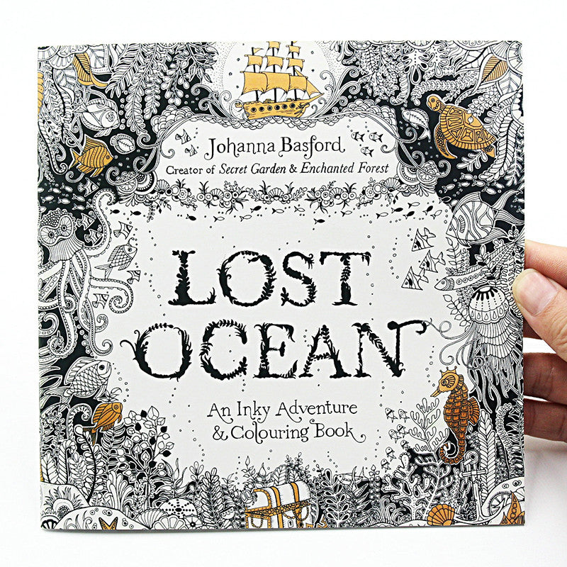 24 Page Lost Ocean Coloring Book For Adults