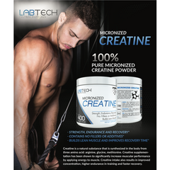 LabTech Micronized Creatine, Unflavored, No Fillers, 400g - LabTechNutraceuticals